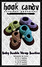 Baby Double Strap Booties: Hook Candy Crochet Patterns
