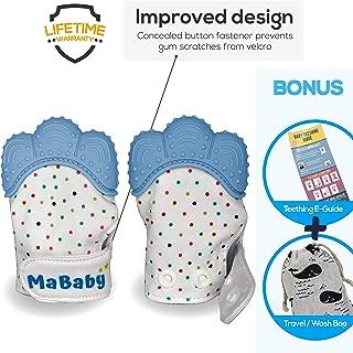 Teething Mitten Baby Teething Mitt BPA-Free Panda Teether Infant Teether Mitt 2 Pack Gift Set with Bib Pandanamu