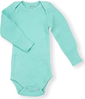 Earthy Organic Baby Knit Bodysuit Boy Girl (7 Sizes: NB-24M) 100% Organic Cotton Heirloom Quality