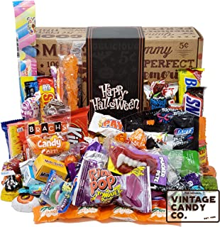 HALLOWEEN CANDY CARE PACKAGE LOADED GIFT BOX - Filled With Milk Chocolate Skulls, Eyeballs, Pumpkins, Seasonal Foil Candies, Rock Candy + More! PERFECT For Girls Boys Kids College Students Adults