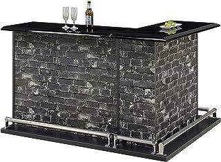 Lynd(リンド) バーカウンター カウンター テーブル バーテーブル ホームバー 120サイズ ブラック
