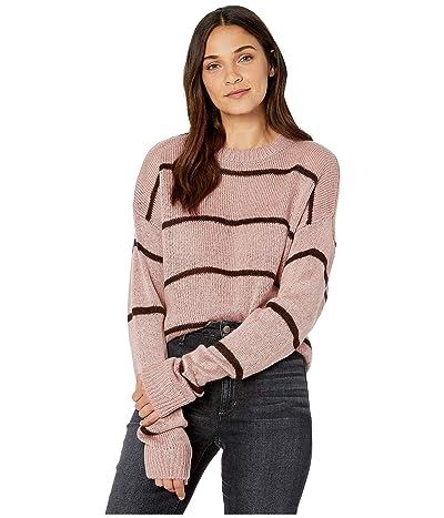 WAYF Lonny Boyfriend Sweater (Mauve Stripe) Women