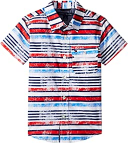 Tommy Hilfiger Kids Short Sleeve Printed Shirt (Toddler/Little Kids)