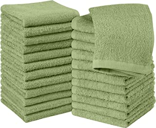 Utopia Towels - 24 Toallas para la Cara de algodón, Paños de algodón (30 x 30 cm) (Verde Salvia)