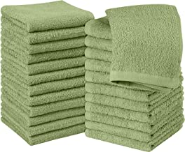 Utopia Towels Cotton Washcloths, 24 - Pack, Sage Green