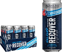 KILL CLIFF Recovery Drink, Raspberry Blueberry, 12 Oz Cans, 12 Count - Clean Hydration, Low Cal, Electrolytes, B-Vitamins