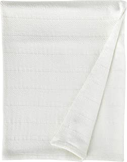 Eddie Bauer Herringbone Cotton Blanket, Full/Queen, White