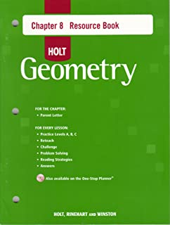 Holt Geometry © 2007: Resource Book with Answers: Chapter 8