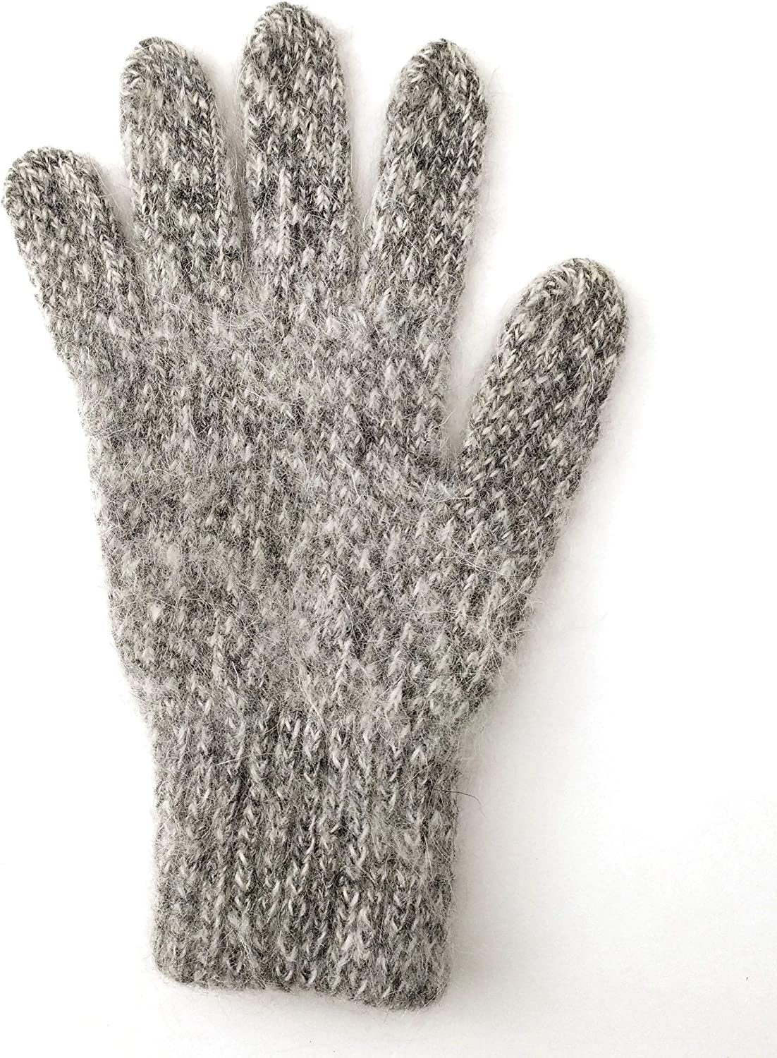 Tourmania Women's Wool Gloves for Cold Weather, Gray, Small / Medium