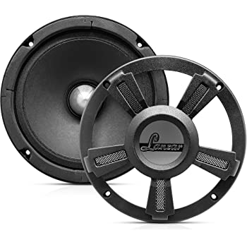 "Lanzar Upgraded Opti Pro 6.5"" High Power MidBass - Powerful 500 Watt Peak 105Hz – 12 kHz Frequency Response 30 Oz Magnet Structure 4 Ohm w/Paper Cone and Foam Surround Full Range Speaker - OPTI6MI"