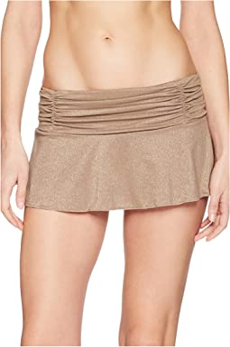 Kenneth Cole Lurex® Solids Skirted Bikini Bottom