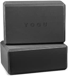 YOGU Yoga Blocks Set of 1 or 2 EVA Foam or Cork Wood