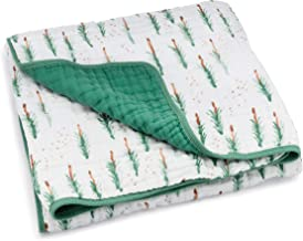 Parker Baby Muslin Blanket - 100% Soft Cotton Baby Quilt and Kids Blanket for Boys - Lodgepole