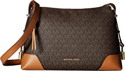 bbfb44b7f766d Michael michael kors sullivan large north south messenger brown ...