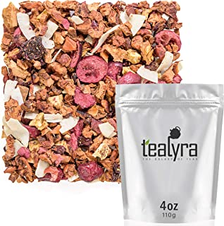 Tealyra - Tropical Breeze - Fruity Tea Blend - Kiwi Cherry Cranberry - Herbal Loose Leaf Tea - Vitamines Rich - Hot and Iced Tea - Caffeine-Free - 110g (4-ounce)
