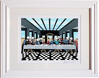 The Last Supper or The Lost Supper? Signed Art. Ancient aliens Area 51. Alien art