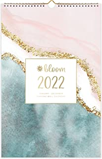 """bloom daily planners 2022 Calendar Year Monthly Hanging Wall Calendar (January 2022 through December 2022) - 11"""" x 17"""" - S..."""