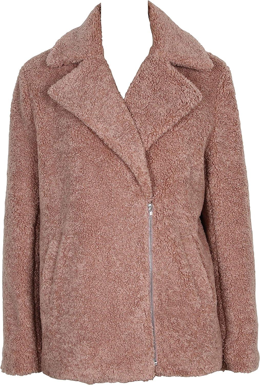 MINKPINK Women's Dawn Faux Fur Jacket Coat, Pink