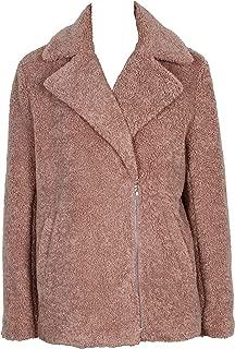 MINKPINK 女士人造毛皮夹克外套,粉色