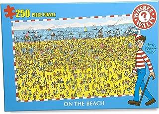 On The Beach - Where's Wally? 250 Piece Jigsaw Puzzle 7020