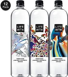 LIFEWTR, Premium Purified Water, pH Balanced with Electrolytes For Taste, 1 liter bottles (12 Pack) (Packaging May Vary)