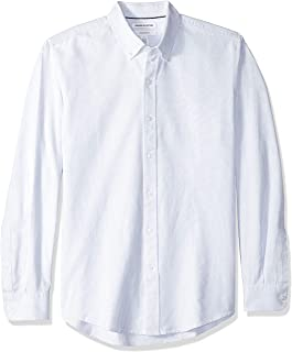 Amazon Essentials Men's Standard Slim-fit Long-Sleeve Stripe Oxford Shirt