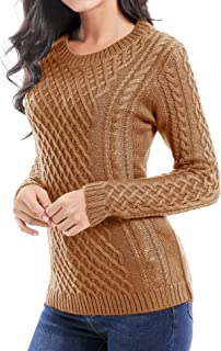 v28 Women Crew Neck Knit Stretchable Elasticity Long Sleeve Sweater Jumper Pullover