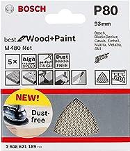 Bosch Professional 5 Stuks Deltaschuurvel M480 Best for Wood and Paint (hout en verf, korrelgrootte P80, accessoire deltas...