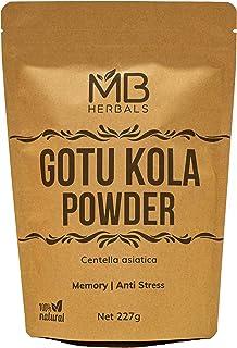 MB Herbals Gotu Kola Powder 227 Gram (Half Pound) | Centella asiatica | Mandukaparni