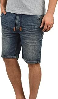 Blend Bartels Herren Jeans Shorts Jogger-Denim Kurze Hose Mit Elastischem Bund Und Destroyed-Optik Aus Stretch-Material Slim Fit