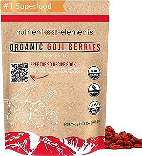 2 lbs/32oz Premium Organic, Raw & Dried Goji Berries - USDA Certified - (907g) - Natural Superfood - Extra Large, Non GMO ...