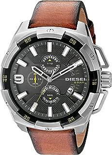 Men's DZ4393 Heavyweight Stainless Steel Brown Leather Watch