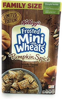 Kelloggs Frosted Mini Wheats Pumpkin Spice Cereal Family Size, 22 oz