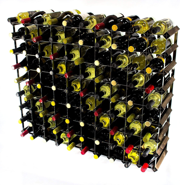 Ven a elegir tu propio estilo deportivo. Cranville Wine Racks Classic 90Botella 90Botella 90Botella de Roble Oscuro Manchado y Madera botellero de Metal galvanizado Montada  Las ventas en línea ahorran un 70%.