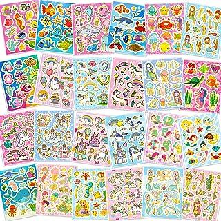HOWAF 330+ Paillettes Autocollants Gomettes pour Enfant Filles Artisanat Scrapbooking Bricolage Carte, Arc-en-Ciel Licorne...
