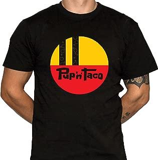 Pup N Taco Shirt Mens Black Cotton Tshirt