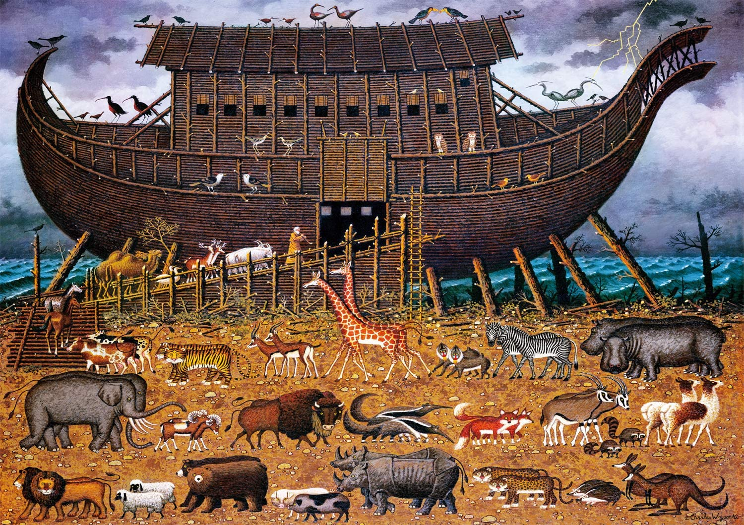 Buffalo Games - Charles Wysocki Noah P lowest price Friends Large 300 and Luxury goods