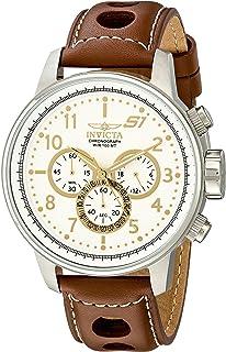 """Invicta 16010 S1""""Rally"""" Reloj de hombre de acero inoxidable con brazalete de cuero marrón"""
