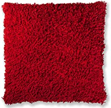 Shagadelic 27 Red Chenille Twist Shag Pillow