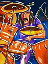 JOHN BONHAM PRINT POSTER drums cd lp record album vinyl Led Zeppelin II III tom tom snare cymbals kick jimmy page
