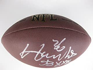 Merton Hanks, San Francisco 49ers, Iowa, Signed, Autographed, NFL Football, a COA with the Proof Photo the Merton Signing the Football Will Be Inlcuded