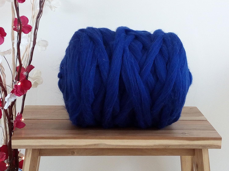 Sapphire 100% Merino Wool Giant Yarn Extreme Arm Knitting Felting Wool Tops Roving Bulky 50g - 4kg (4 kg)