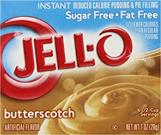 JELL-O Butterscotch Sugar Free Fat Free Instant Pudding & Pie Filling Mix (1 oz Box)