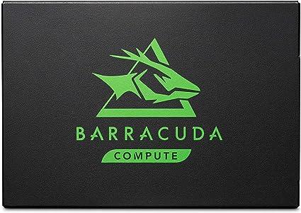 TALLA 1 TB. Seagate BarraCuda 120 SSD, 1 TB, Disco duro interno SSD, SSD, 2,5 pulgadas, SATA a 6 GB/s para portátil, ordenador de sobremesa o PC (ZA1000CM1A003)