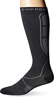 Tommie Copper Men's Recovery Jolt Dress Over the Calf Socks, Charcoal, 6-8.5