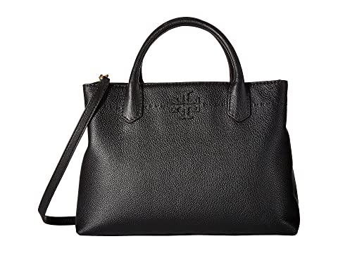 Negro Tory Burch Compartimiento McGraw Satchel Triple wvUfq