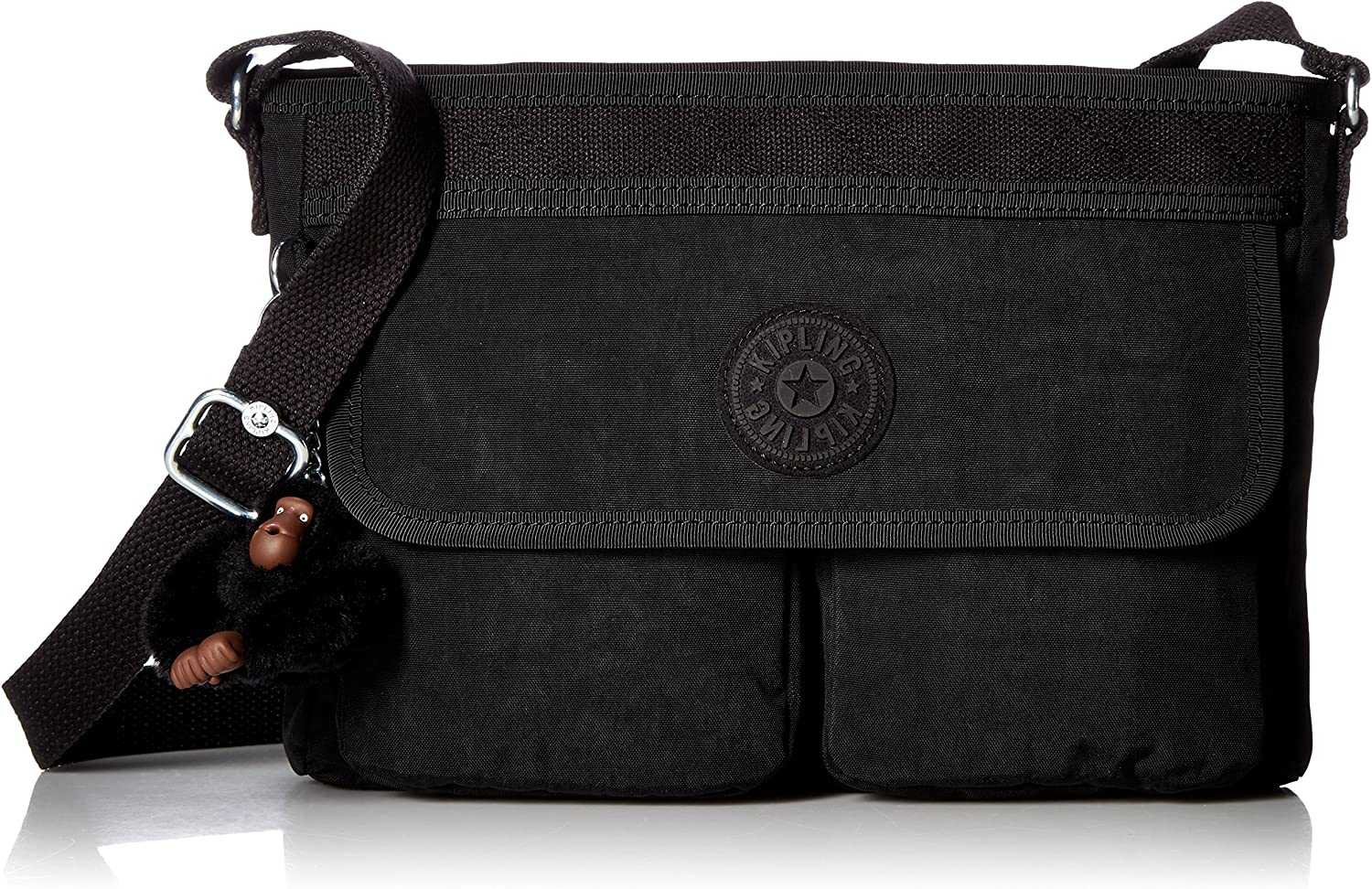 Kipling Angie Solid Congreenible Crossbody Bag, Black