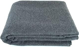 EKTOS 90% Wool Blanket, Grey, Warm & Heavy 4.4 lbs, Large Washable 66