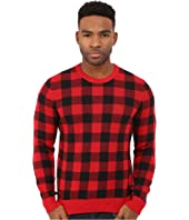 Original Penguin - Long Sleeve Crew Buffalo Plaid