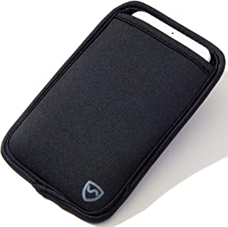 """SYB Phone Pouch, Neoprene EMF Protection Sleeve for Cell Phones up to 8.3cm (3.25"""") Wide, Black"""
